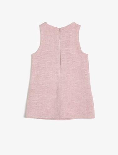 Koton Kids Cep Detaylı Elbise Pembe